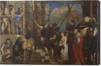 Obraz na płótnie Tycjan - Ecce Homo