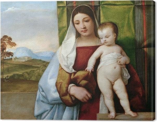 Obraz na płótnie Tycjan - Maria z Dzieciątkiem - Reprodukcje