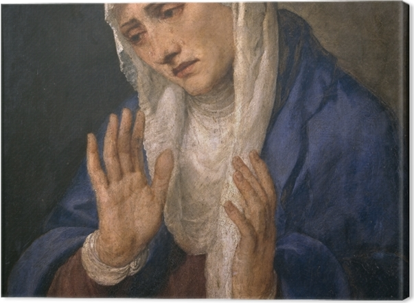 Obraz na płótnie Tycjan - Mater Dolorosa - Reprodukcje