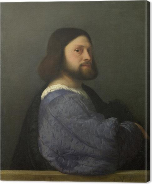 Obraz na płótnie Tycjan - Portret mężczyzny - Reprodukcje