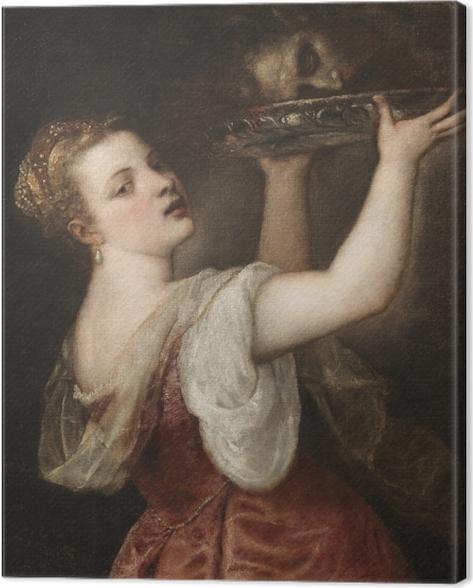 Obraz na płótnie Tycjan - Salome z głową Jana Chrzciciela - Reprodukcje