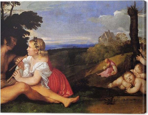 Obraz na płótnie Tycjan - Trzy okresy życia - Reprodukcje