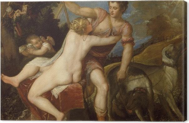 Obraz na płótnie Tycjan - Wenus i Adonis - Reprodukcje
