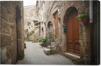 Obraz na płótnie Typowy włoski wąska ulica