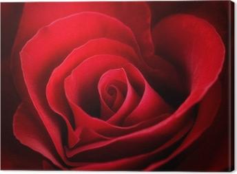 Obraz na płótnie Valentine czerwona róża. w kształcie serca