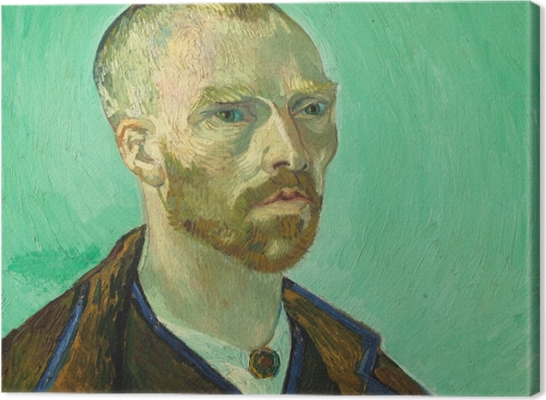 Obraz na płótnie Vincent van Gogh - Autoportret dedykowany Paulowi Gaugin - Reproductions