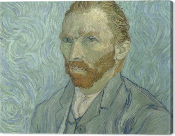 Obraz na płótnie Vincent van Gogh - Autoportret - Reproductions