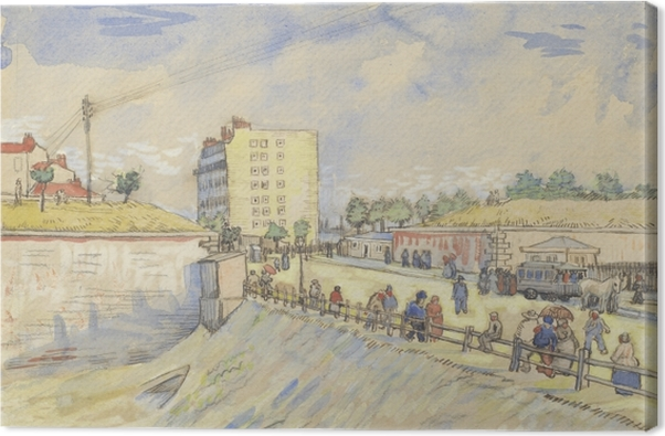 Obraz na płótnie Vincent van Gogh - Brama na wałach Paryża - Reproductions