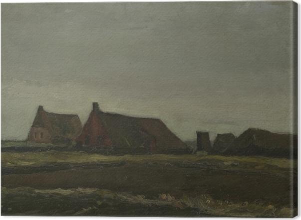Obraz na płótnie Vincent van Gogh - Chaty - Reproductions