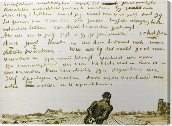 Obraz na płótnie Vincent van Gogh - Człowiek ciągnący brona - Reproductions