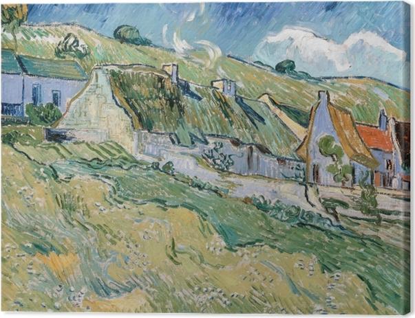 Obraz na płótnie Vincent van Gogh - Domki w Auvers-sur-Oise - Reproductions