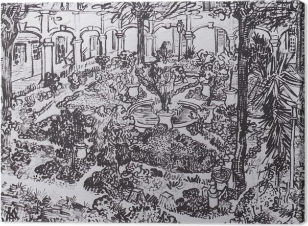 Obraz na płótnie Vincent van Gogh - Dziedziniec szpitala - Reproductions