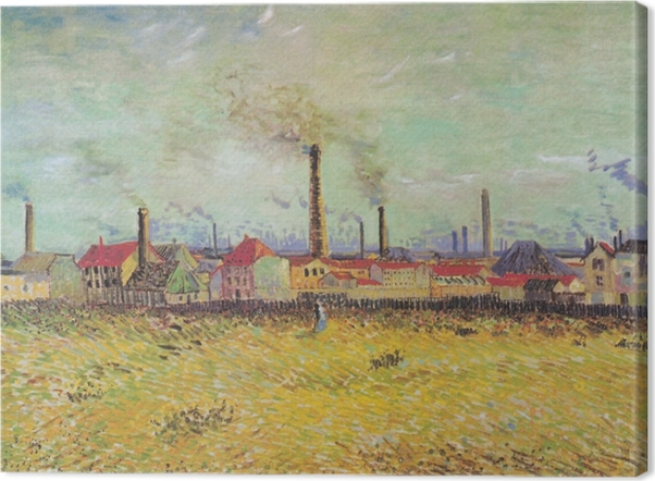 Obraz na płótnie Vincent van Gogh - Farbryki w Asnières - Reproductions