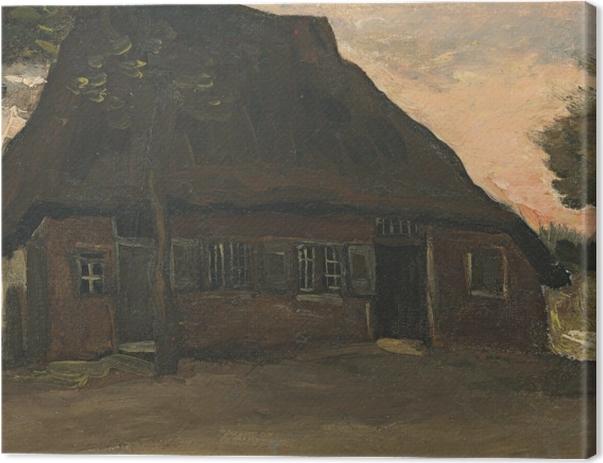 Obraz na płótnie Vincent van Gogh - Gospodarstwo w Nuenen - Reproductions