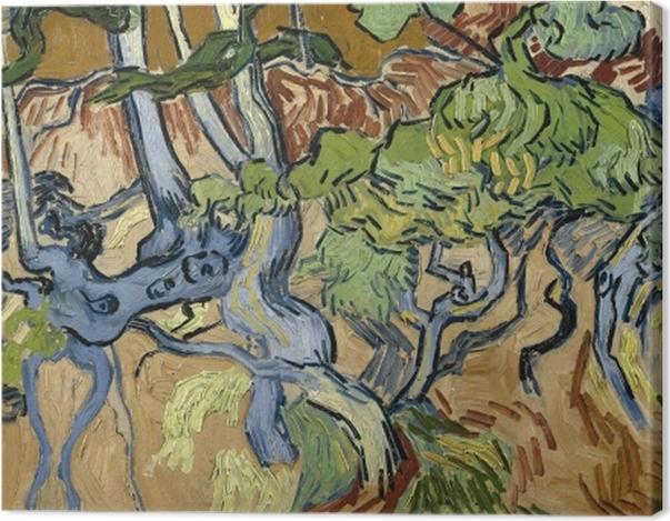 Obraz na płótnie Vincent van Gogh - Korzenie drzew - Reproductions