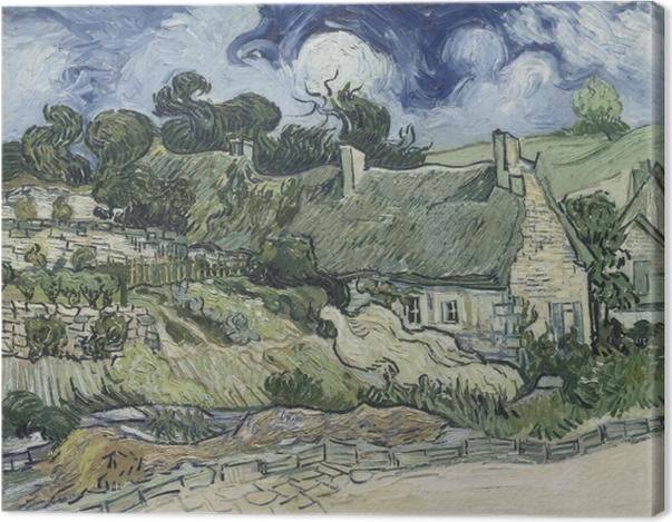 Obraz na płótnie Vincent van Gogh - Krajobraz z domkami - Reproductions