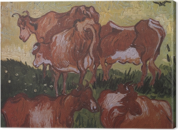 Obraz na płótnie Vincent van Gogh - Krowy - Reproductions