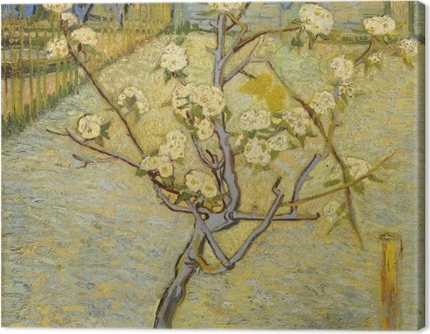 Obraz na płótnie Vincent van Gogh - Kwitnące drzewo brzoskwiniowe - Reproductions