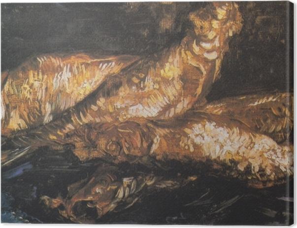 Obraz na płótnie Vincent van Gogh - Martwa natura z rybami - Reproductions