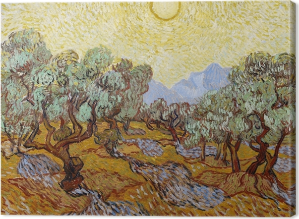 Obraz na płótnie Vincent van Gogh - Ogród oliwny - Reproductions