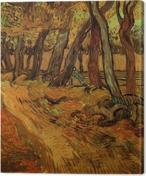 Obraz na płótnie Vincent van Gogh - Ogród szpitala św. Pawła - Reproductions