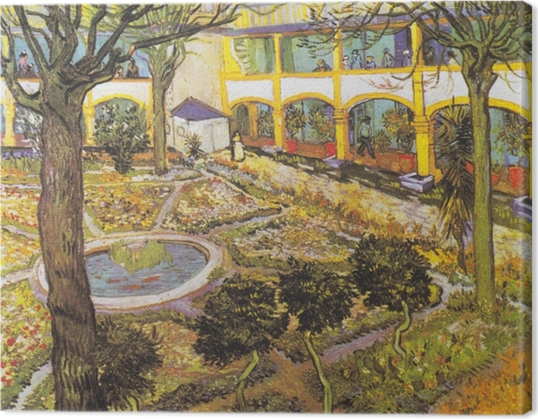 Obraz na płótnie Vincent van Gogh - Ogród szpitalny w Arles - Reproductions