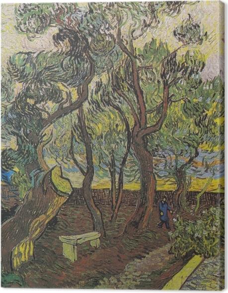 Obraz na płótnie Vincent van Gogh - Ogród w szpitalu św. Pawła - Reproductions