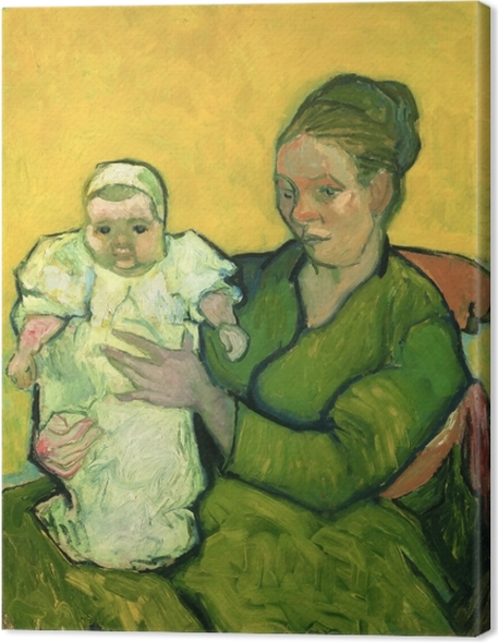 Obraz na płótnie Vincent van Gogh - Pani Roulin z synkiem Marcellem - Reproductions