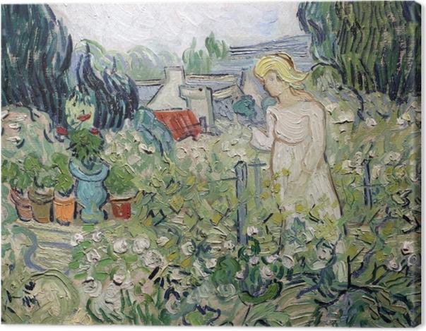 Obraz na płótnie Vincent van Gogh - Panienka Gachet w swoim ogrodzie w Auvers - Reproductions
