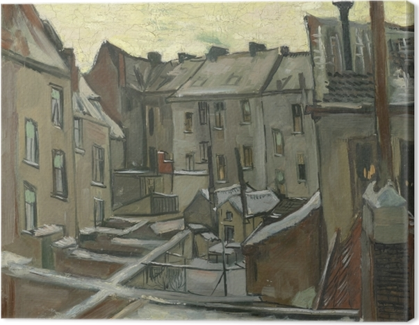 Obraz na płótnie Vincent van Gogh - Podwórko starych domów w Antwerpii - Reproductions