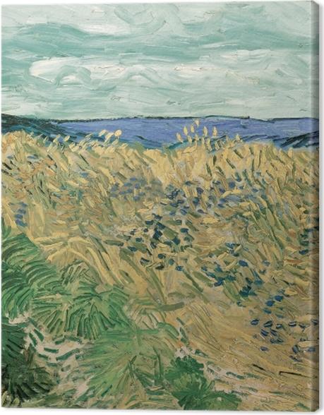 Obraz na płótnie Vincent van Gogh - Pole zboża z chabrami - Reproductions
