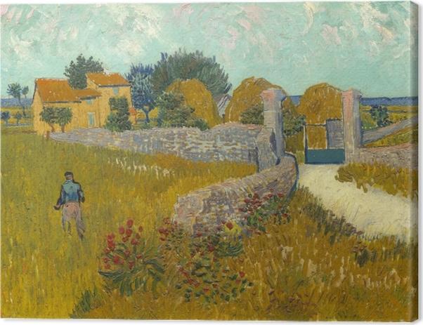 Obraz na płótnie Vincent van Gogh - Pole ze zbożem - Reproductions