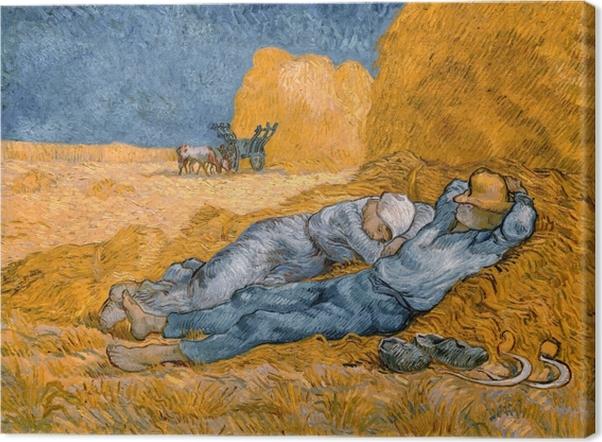 Obraz na płótnie Vincent van Gogh - Południowa siesta - Reproductions