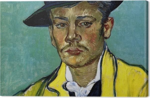 Obraz na płótnie Vincent van Gogh - Portret młodego mężczyzny - Reproductions