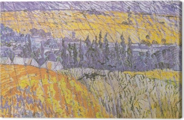 Obraz na płótnie Vincent van Gogh - Rain-Auvers - Reproductions