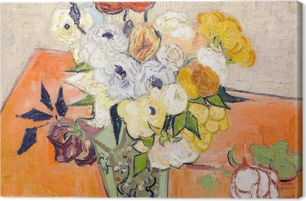 Obraz na płótnie Vincent van Gogh - Róże i zawilce - Reproductions