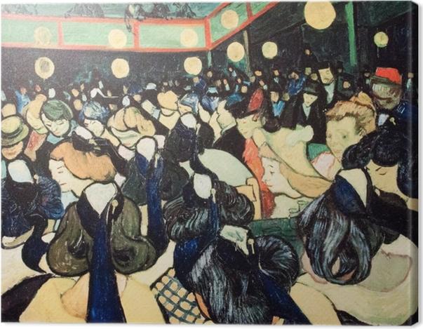 Obraz na płótnie Vincent van Gogh - Sala taneczna w Arles - Reproductions