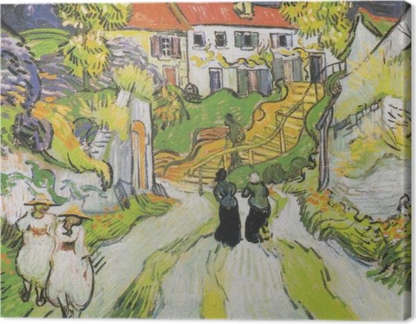 Obraz na płótnie Vincent van Gogh - Schody w Auvers - Reproductions