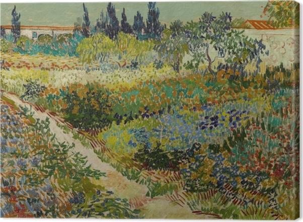 Obraz na płótnie Vincent van Gogh - Ścieżka w kwitnącym ogrodzie - Reproductions