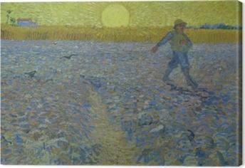 Obraz na płótnie Vincent van Gogh - Siewca o zachodzie słońca