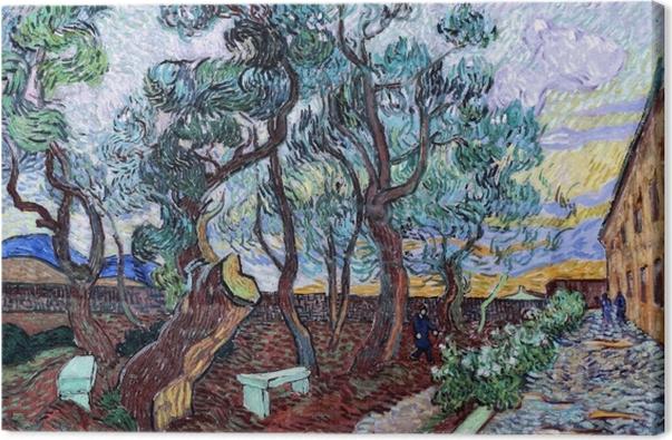 Obraz na płótnie Vincent van Gogh - Szpitalny ogród w St. Remy - Reproductions