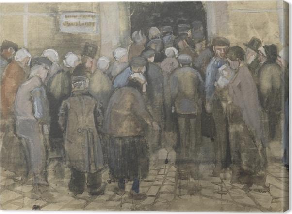 Obraz na płótnie Vincent van Gogh - Ubodzy w kolejce po pieniądze - Reproductions