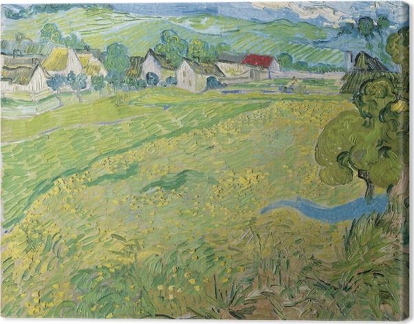 Obraz na płótnie Vincent van Gogh - Widok na Auvers nieopodal Les Vessenots - Reproductions