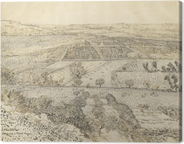 Obraz na płótnie Vincent van Gogh - Widok na la Crau z Montmajour - Reproductions