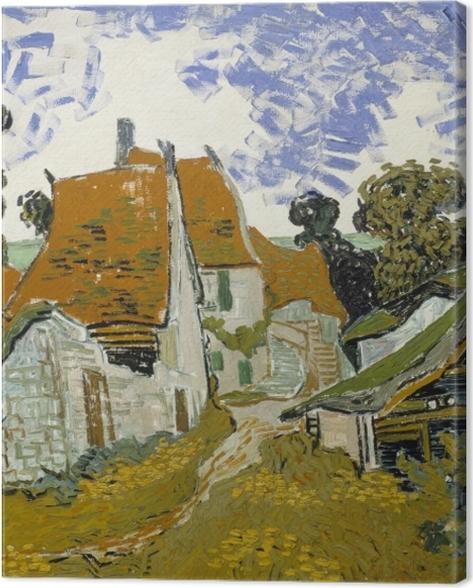 Obraz na płótnie Vincent van Gogh - Wiejska droga w Auvers - Reproductions