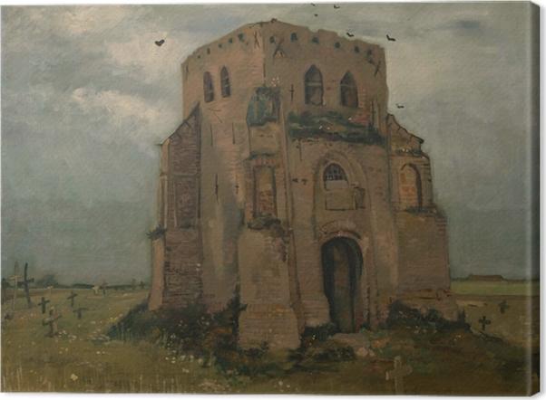 Obraz na płótnie Vincent van Gogh - Wieża starego kościoła w Neunen - Reproductions