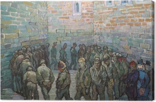 Obraz na płótnie Vincent van Gogh - Więźniowe na patio - Reproductions