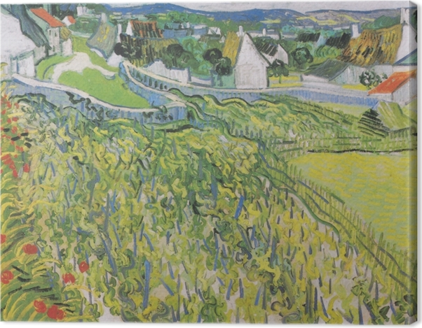 Obraz na płótnie Vincent van Gogh - Winnice w Auvers - Reproductions