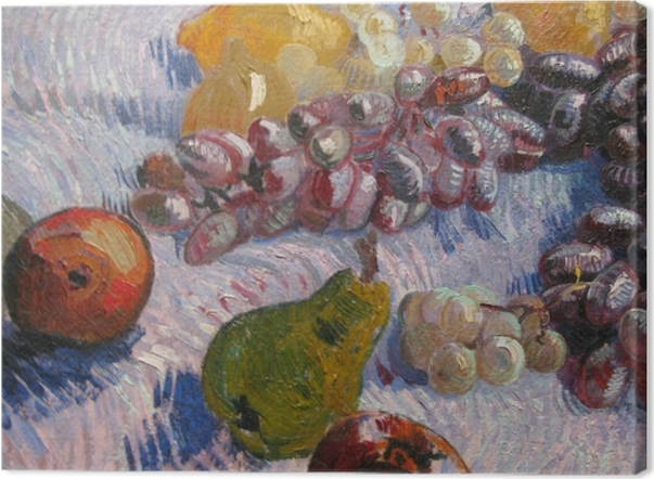 Obraz na płótnie Vincent van Gogh - Winogrona, cytryny, gruszki i jabłka - Reproductions