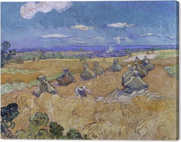 Obraz na płótnie Vincent van Gogh - Zbiory na polach pszenicy - Reproductions